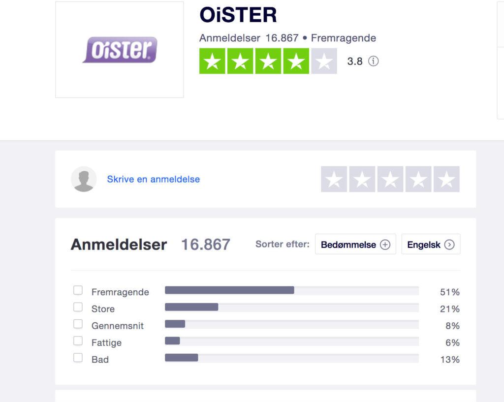 oister trustpilot