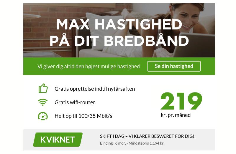 kviknet billigere internet kampagne